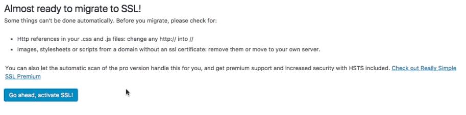הפעלת SSL