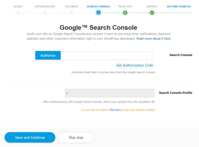 חיבור האתר לSEARCH CONSOLE