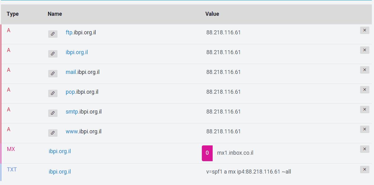 רשומות DNS ביופרס
