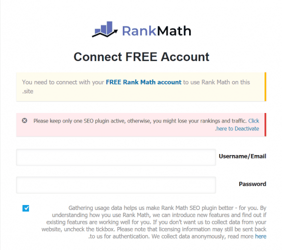 RANK MATH WIDGET