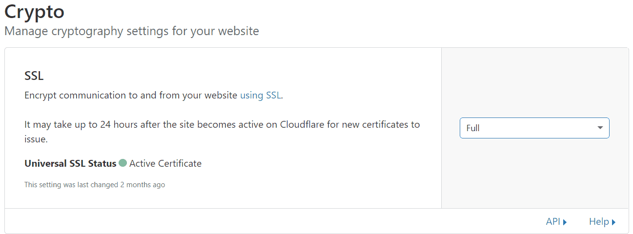 crypto ssl - cloudflare