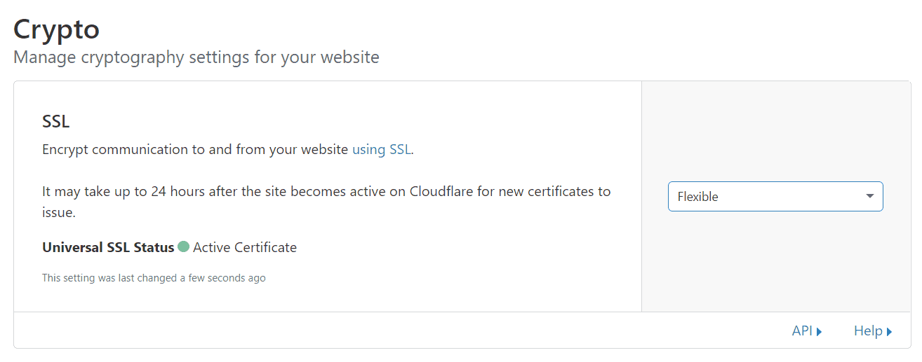 ssl flexible - cloudflare