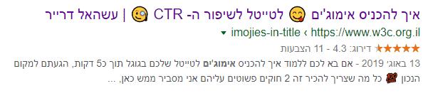 אימוג'ים להגדלת CTR